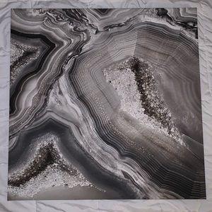 Multicolored marble canvas